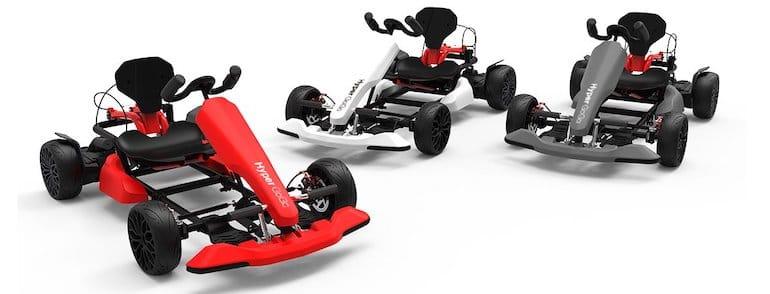 HyperGoGo Kart Kid in Rot, Grau und Weiß