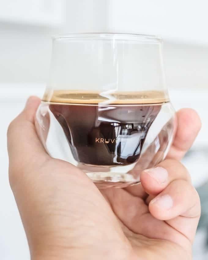 Kruve Propel Espresso-Glas Detailansicht