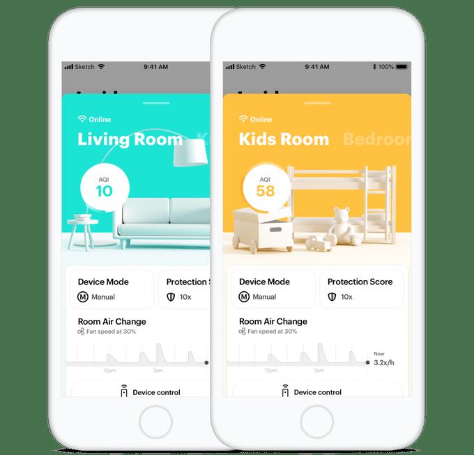 App Abbildung für den Mila Luftreiniger