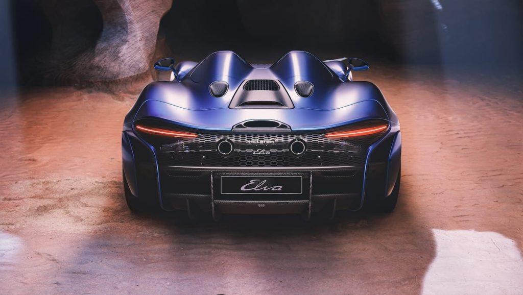 McLarenElva Roadster Rückansicht