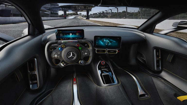 Cockpit des Mercedes-AMG One Hypercar