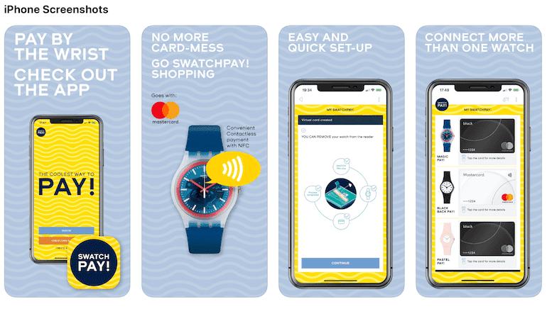 SwatchPAY App für iOS