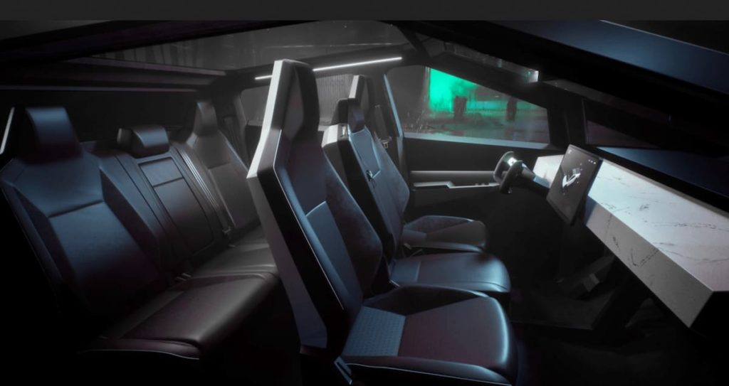 Tesla Cybertruck Innenraum - Cockpit