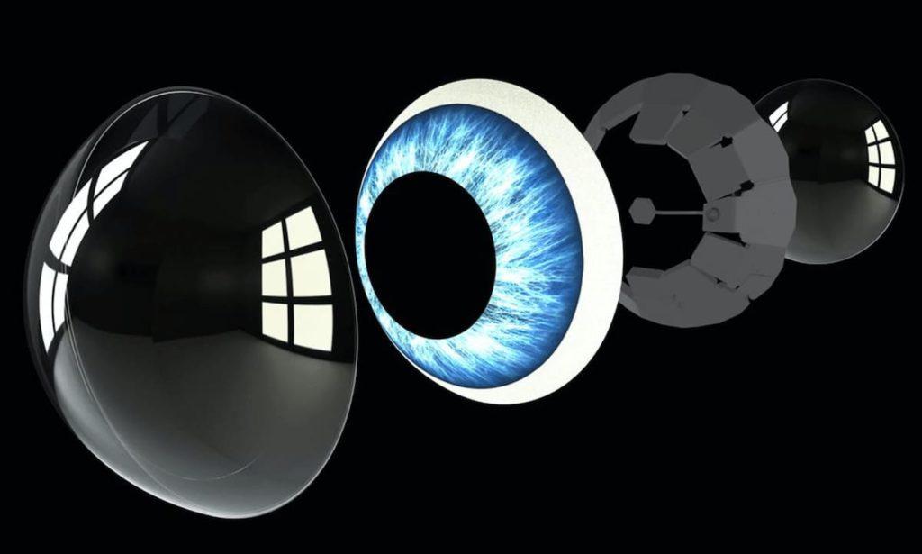Aufbau der AR-Kontaktlinsen von Mojo
