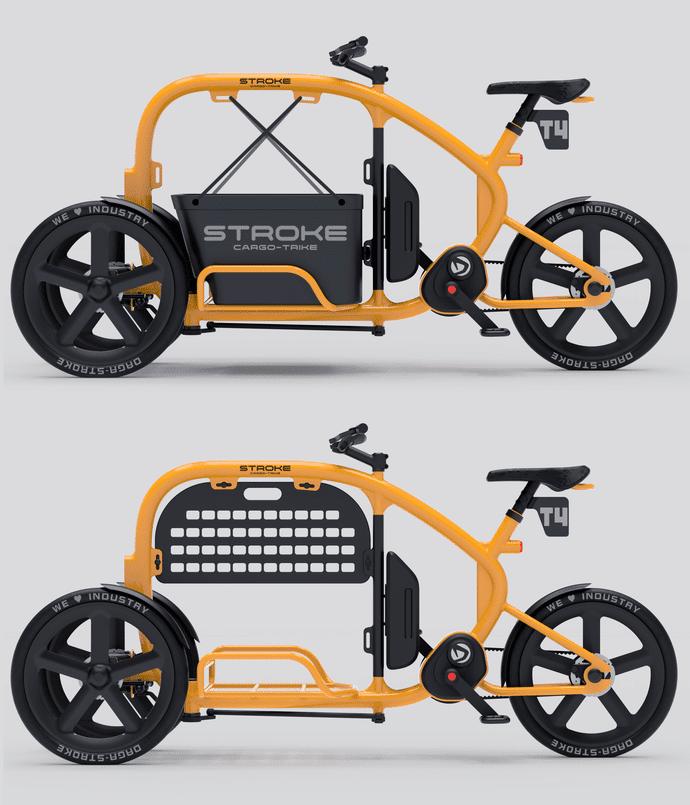 Seitenansicht des Cargo Trike
