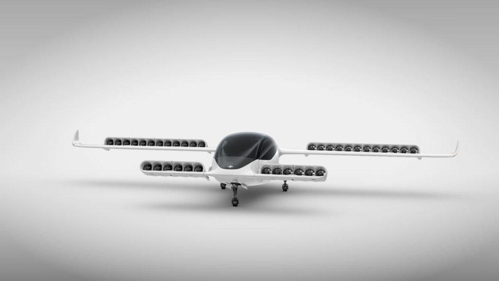 Lilium Jet - Ansicht der Motoren