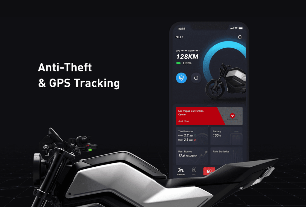 NIU App für das RQi-GT E-Motorrad