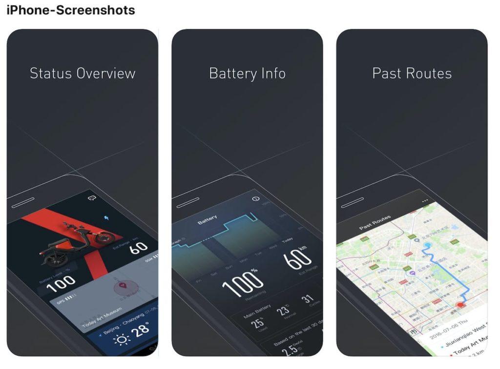 NIU e-Scooter App für iOS und Android