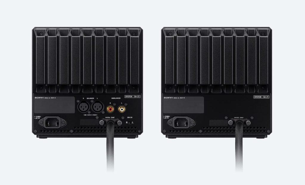 Sony SA-Z1 Lautsprecher - Anschlüsse