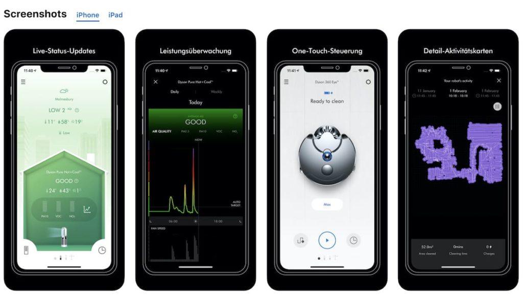 Dyson Link App für iOS