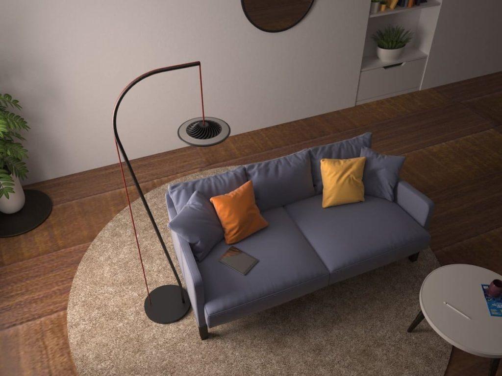 Model L Stehlampe Wohnzimmer