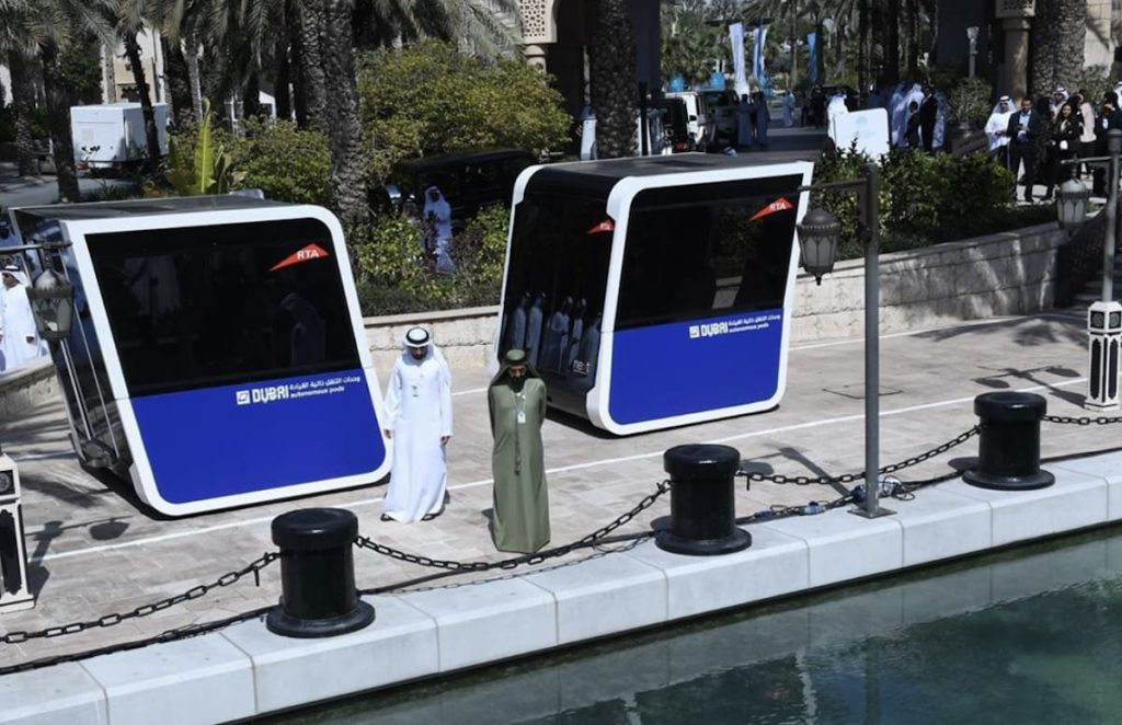 Pods des NEXT Future Transportsystem - Expo2020 Dubai
