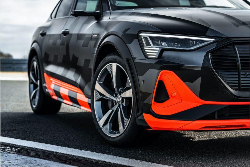 Detailansicht des Audi e-tron