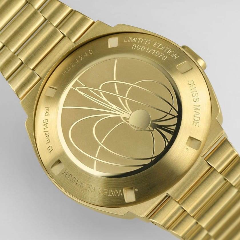 Limited Edition PSR Digital Uhr in Gold - Rückseite