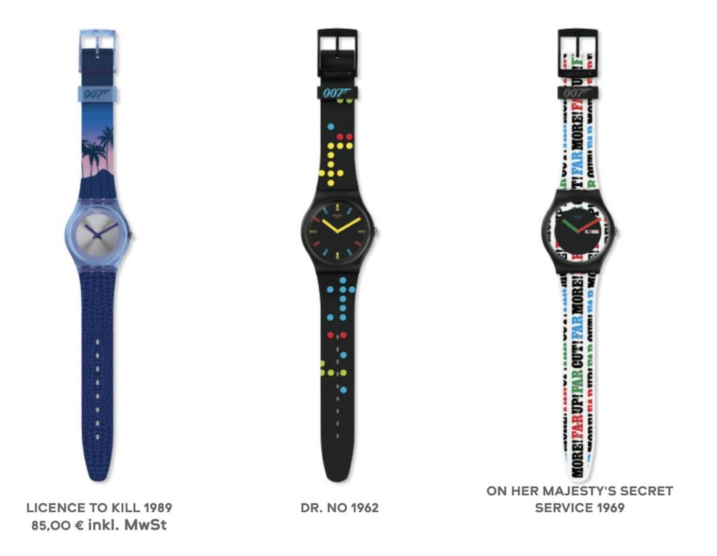 Swatch James Bond Kollektion 2020 Uhren 1-3