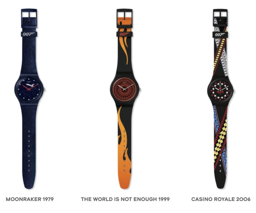 Swatch James Bond Kollektion  2020 Uhren 4-6