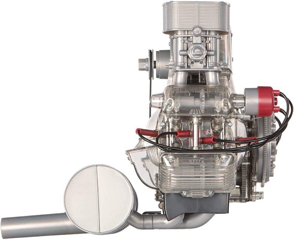 Seitenansicht des Carrera Rennmotors