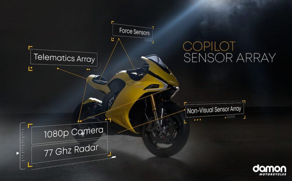 CoPilot Sensoren-System des Hypersport HS E-Motorrad