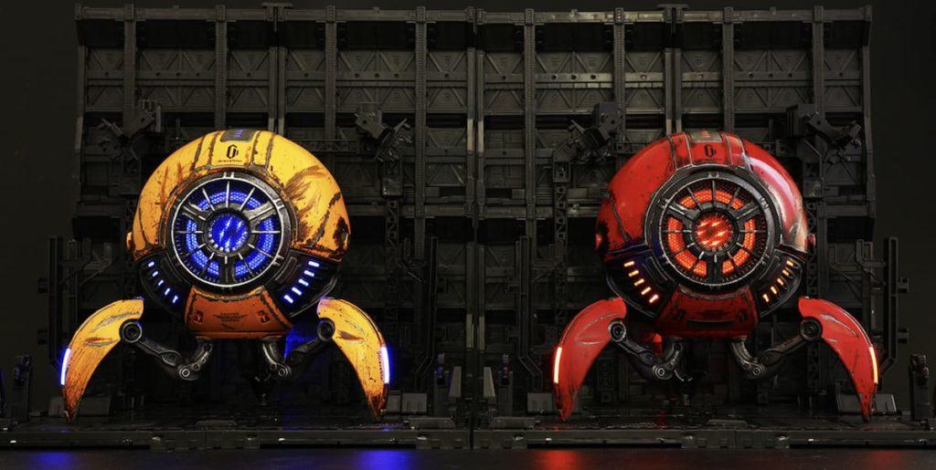 Gravastar Lautsprecher  in rot und gelb