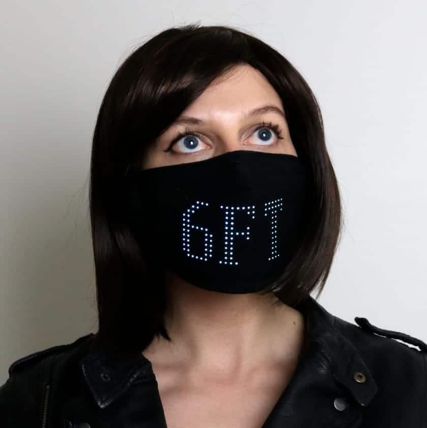 LED-Beispiel der Matrix Face Mask