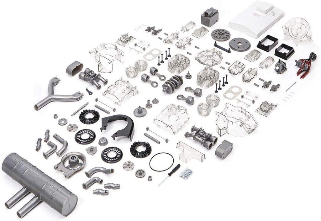 Bauteile des Carrera Rennmotor