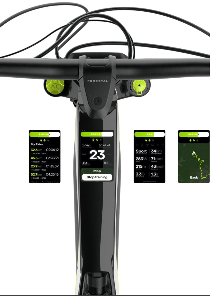 Forestal Smart Dashboard - Siryon Mountain E-Bike