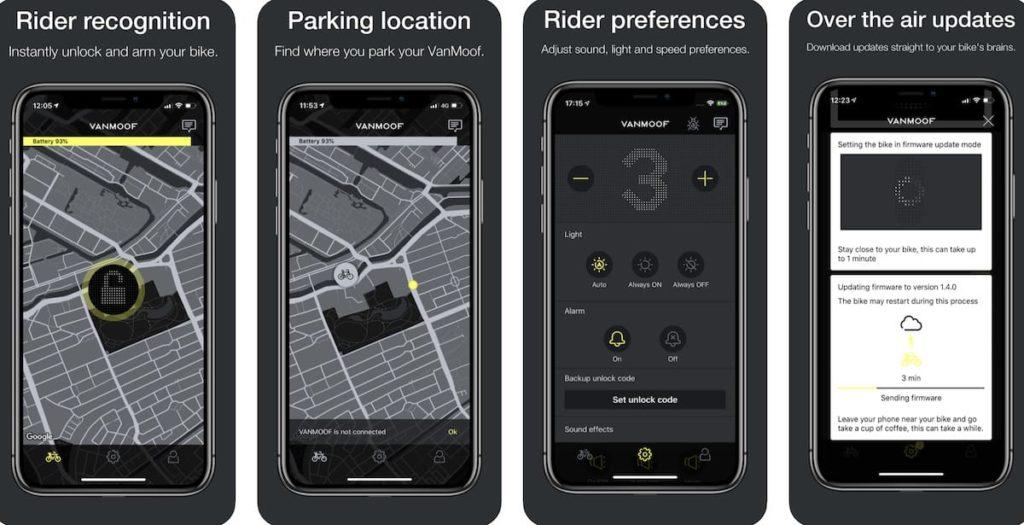 VanMoof App für iOS und Android