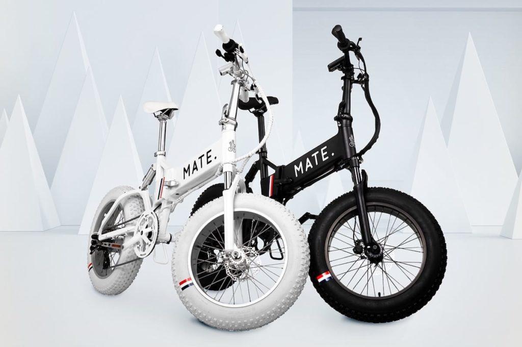 E-Bike MATE x Moncler Genius 2020 in Weiß und Schwarz