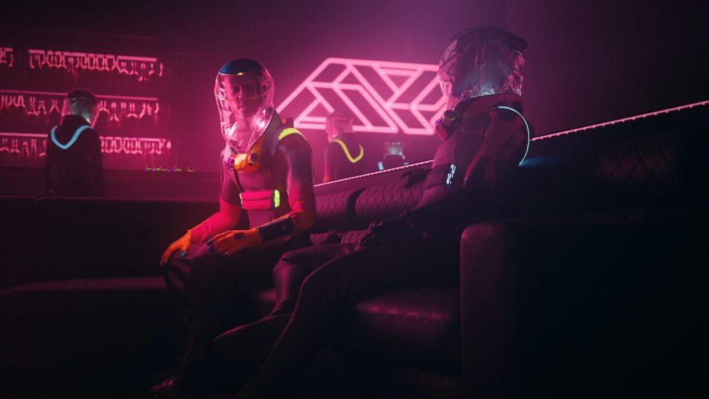 Mit dem Micrashell Schutzanzug in der Club Disco
