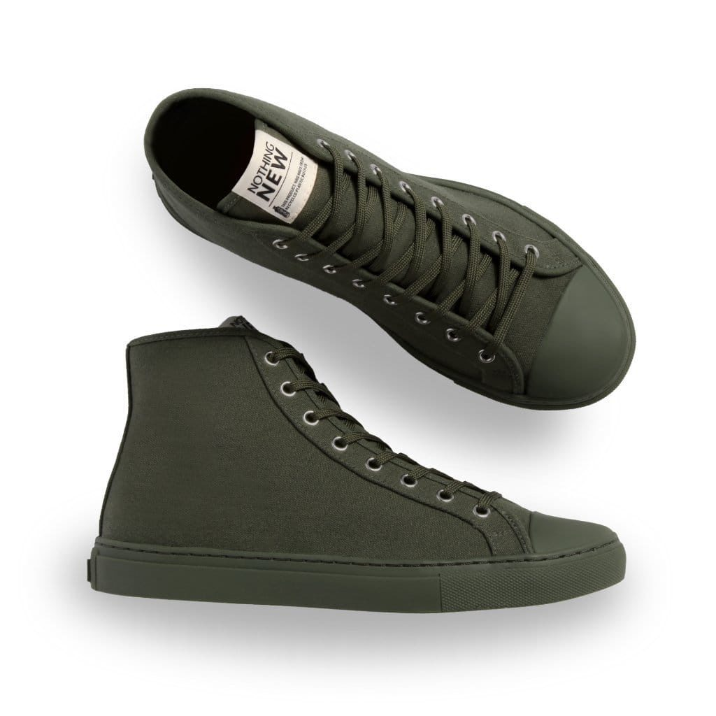 Nothing New High Top Sneaker in Forest