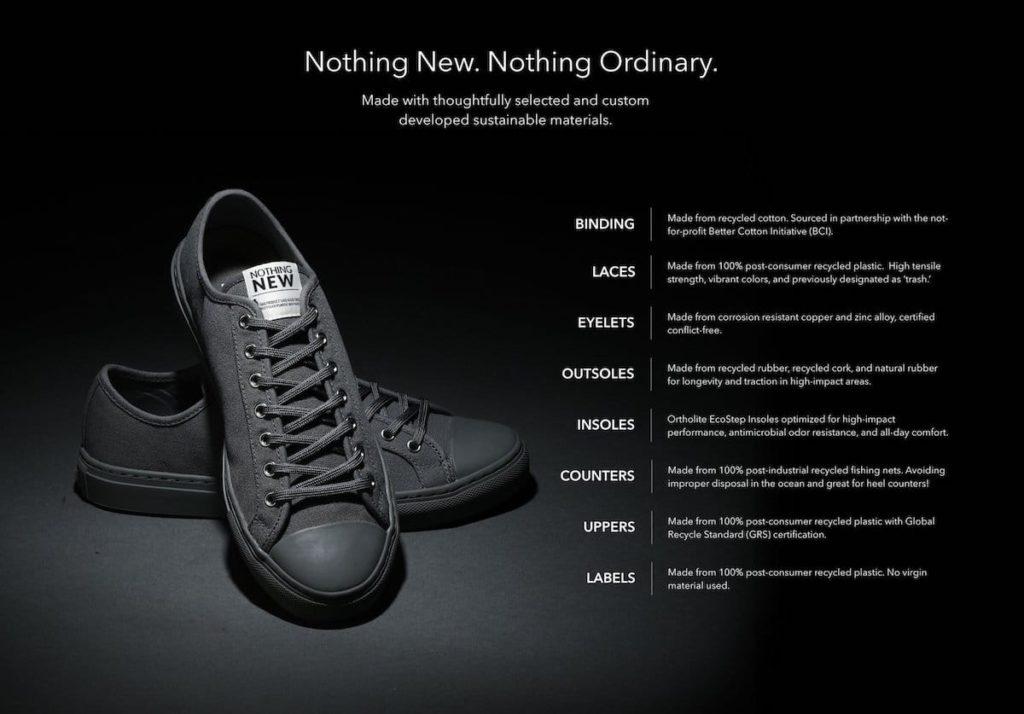 Eigenschaften der Nothing New Sneakers