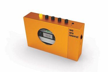 Cassette Player in Orange