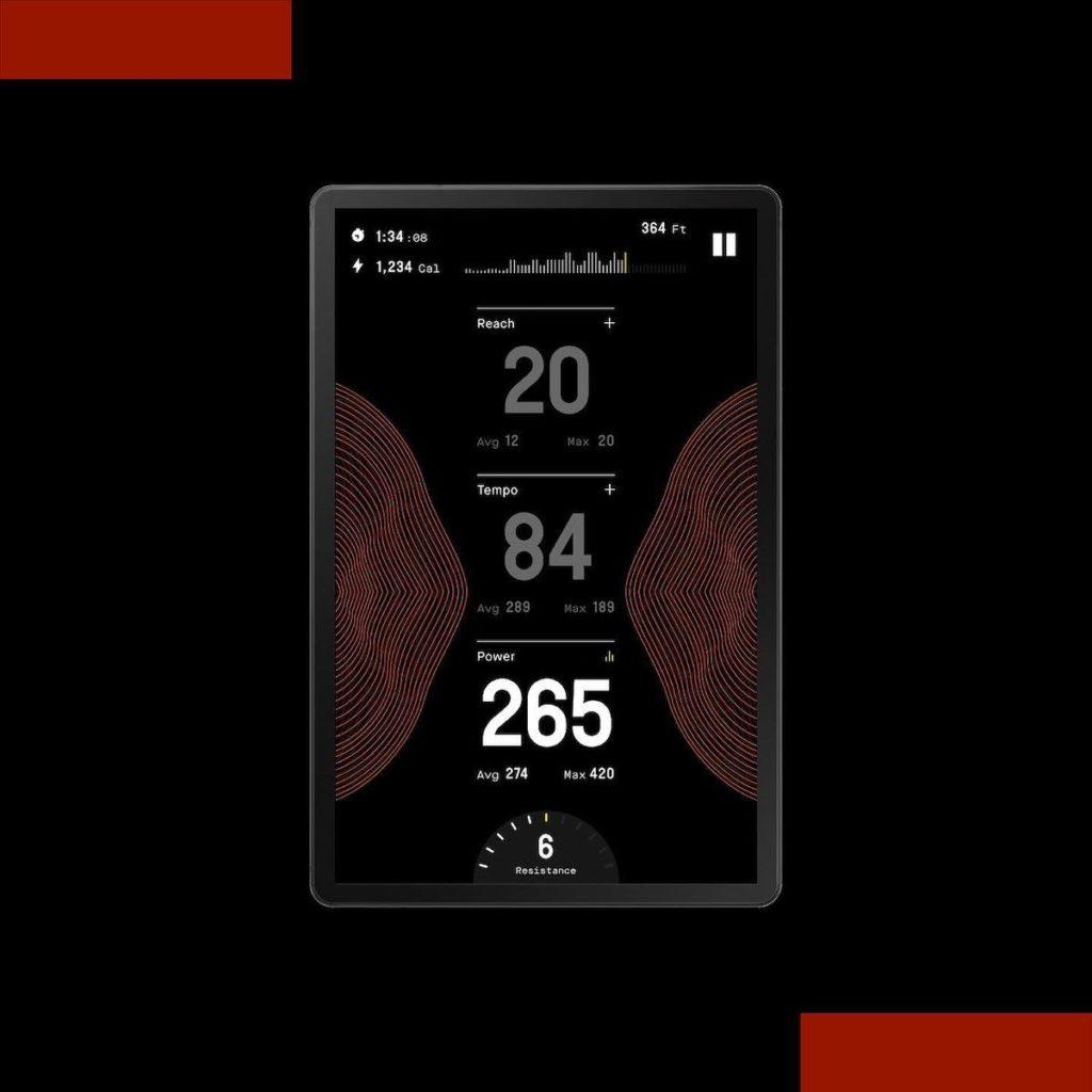 CLMBR Display mit Echtzeitdaten