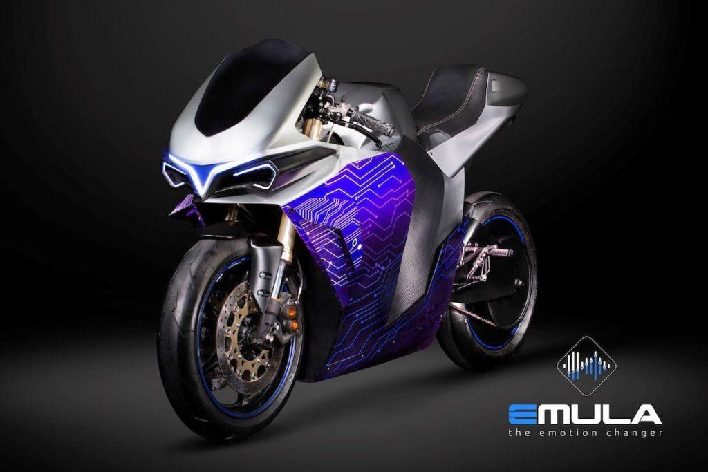 Seitenansicht des emula E-Motorrads