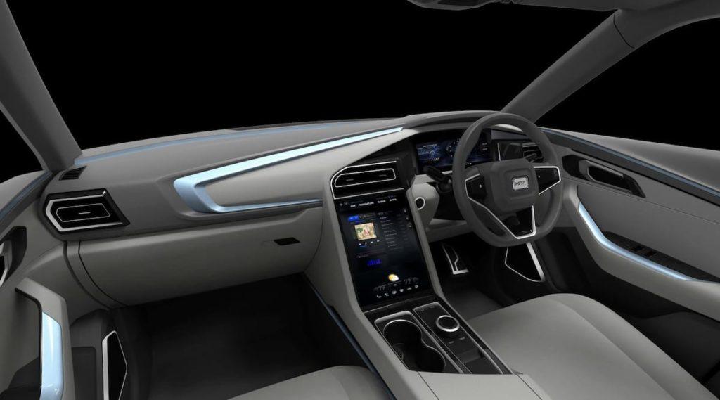 Innenraum und Cockpit des H2X Snowy SUV
