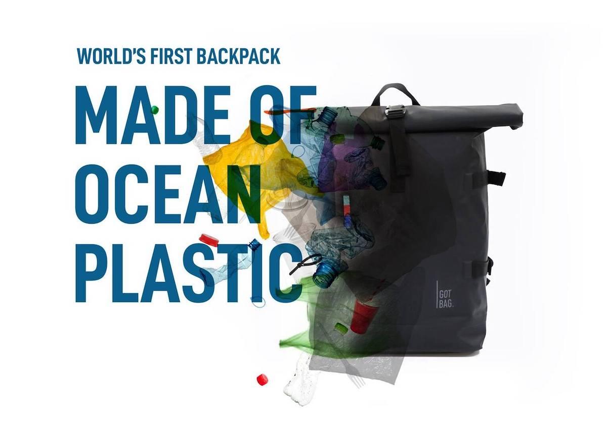 Rolltop Backpack Rucksack aus Meeresplastik