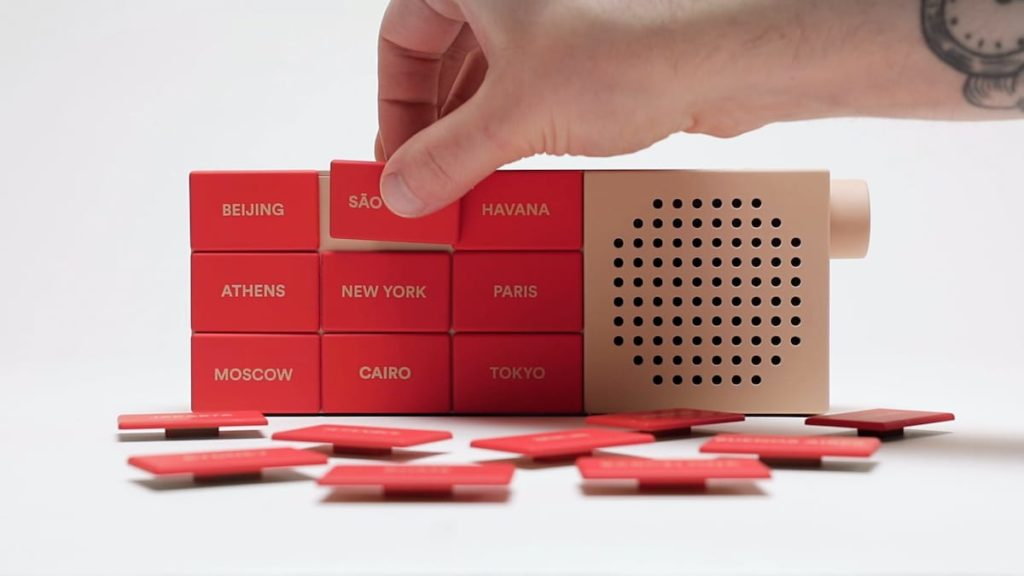 The CityRadio mit austauschbaren Tasten