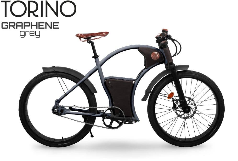 Torino Vintage E-Bike in Graphene Grey