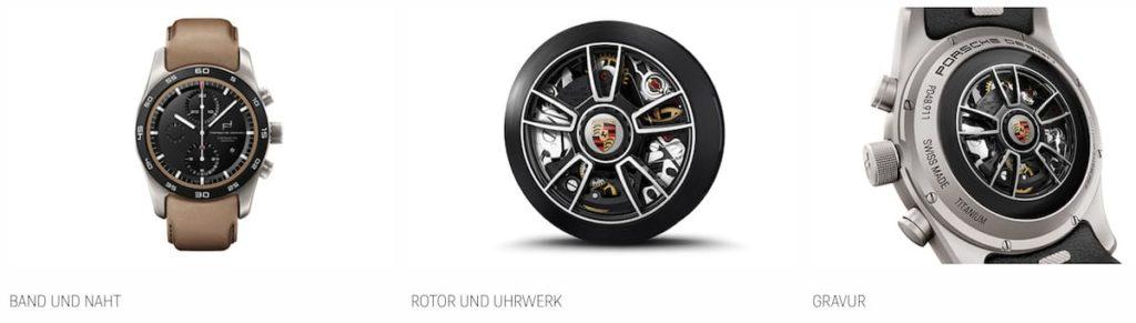 Massgeschneiderte Porsche Custom Built Chronograph