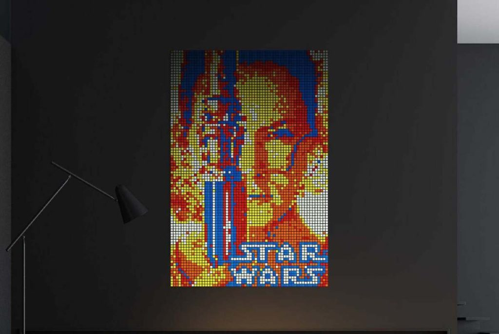 DIY Rubik's Cube Mosaic Rey Skywalker