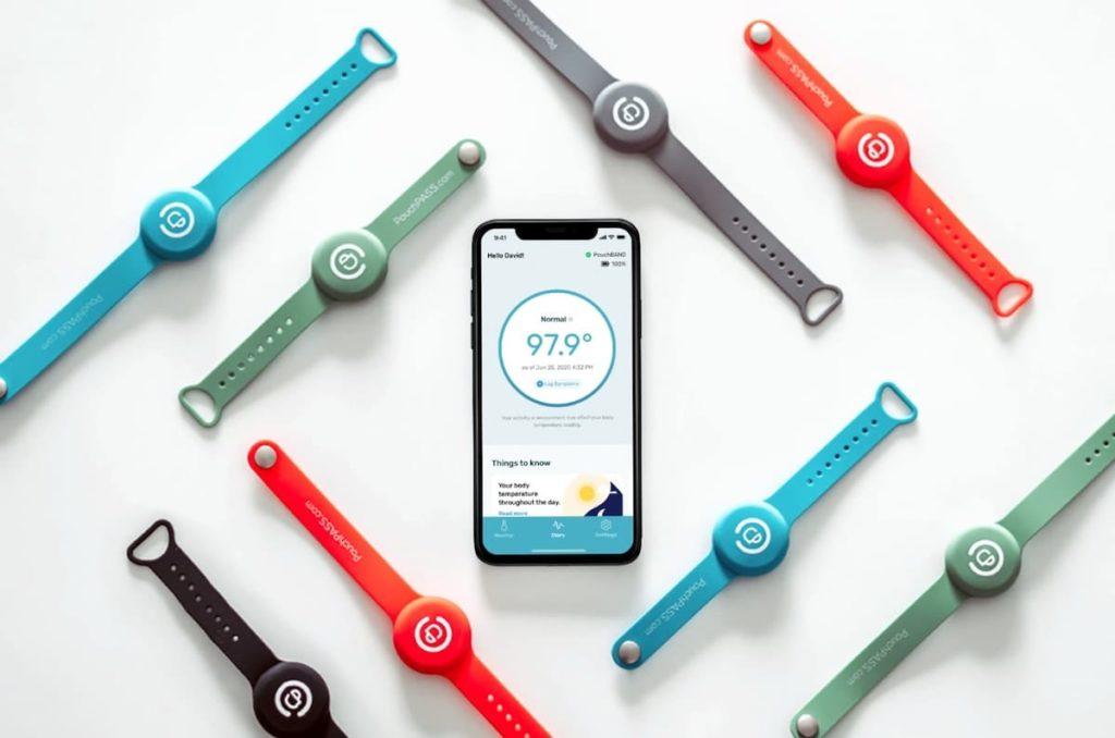 Das PouchPASS Fieber-Thermometer fürs Handgelenk