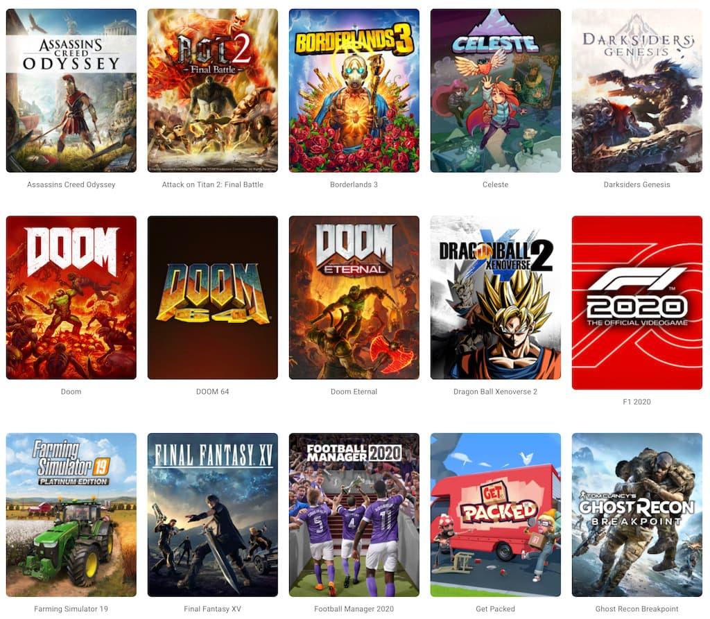 Google Stadia - Spiele Auswahl