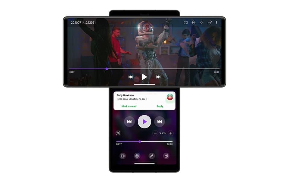 LG Wing YouTube Multitasking