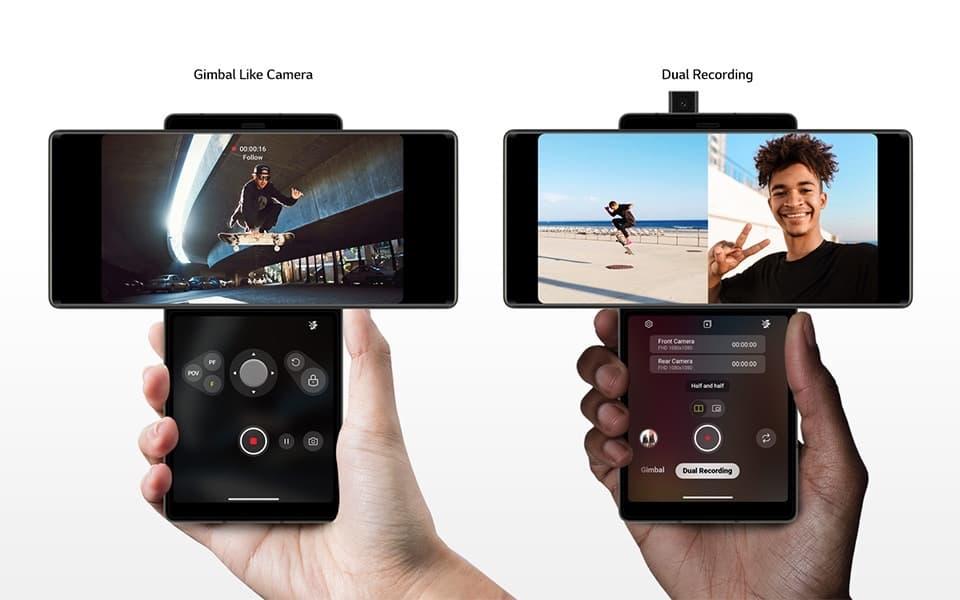 LG Wing mit 2 Bildschirmen
