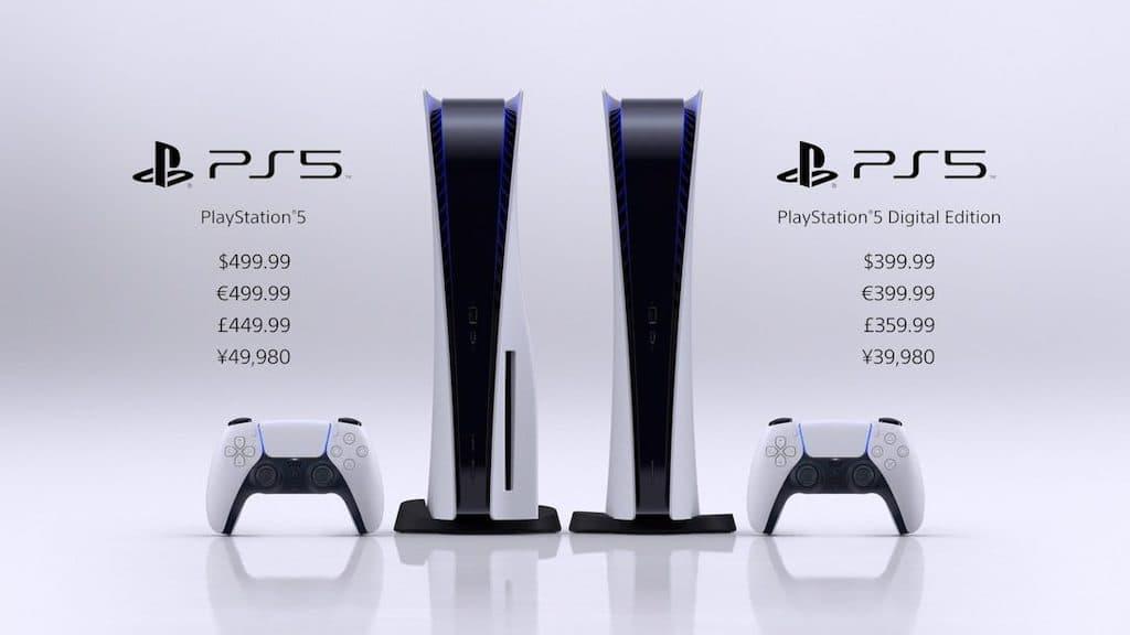 Preise der PlayStation 5 und der Digital Edition
