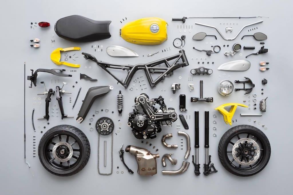 RYCA Motors Motorrad Einzelteile