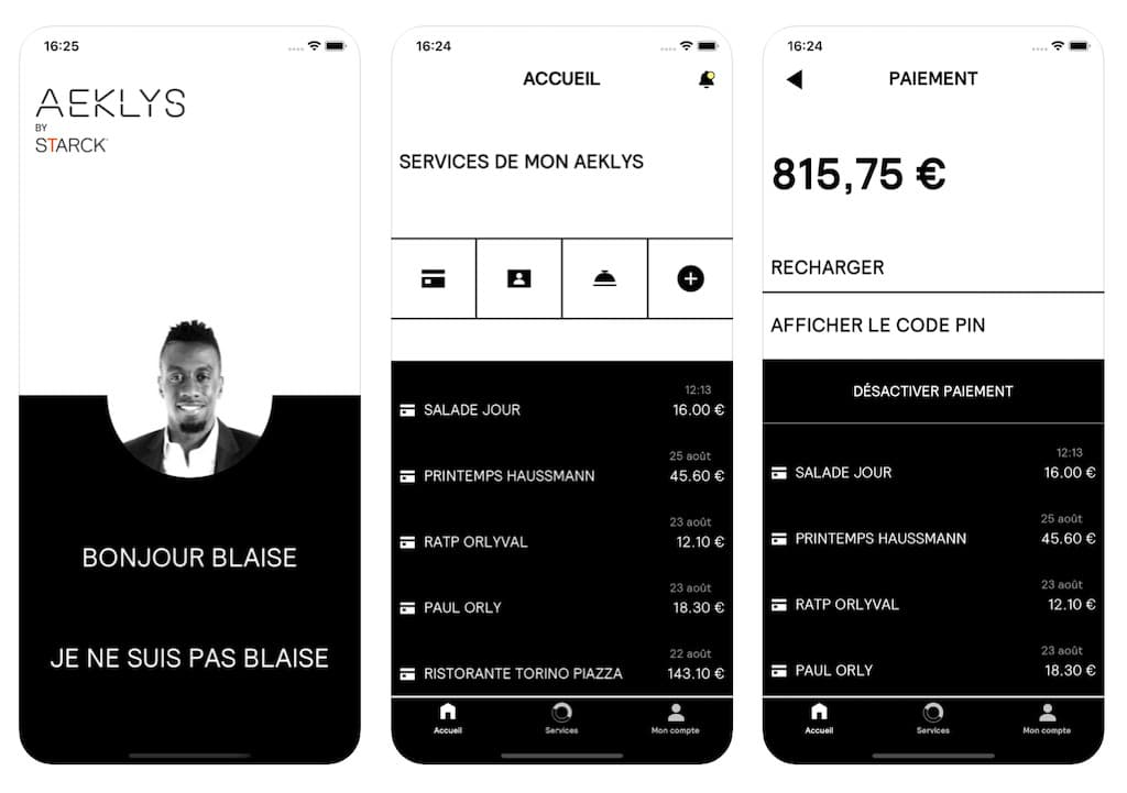 Aeklys iOS App Abbildung