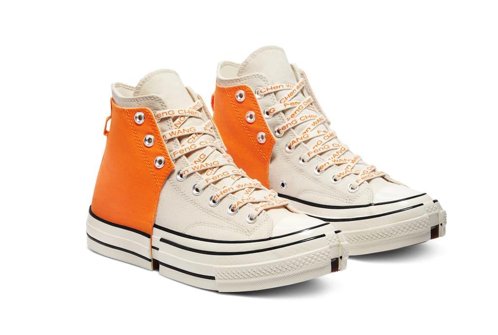 Converse x Feng Chen Wang 2-in-1 Chuck 70 in Orange-Weiss