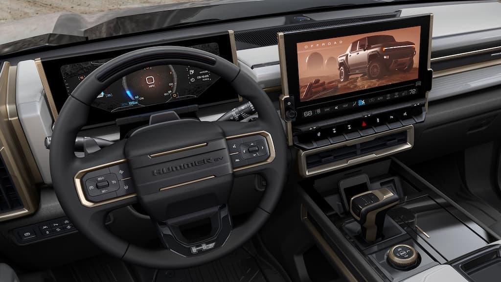 Infotainment-System des GMC Hummer EV