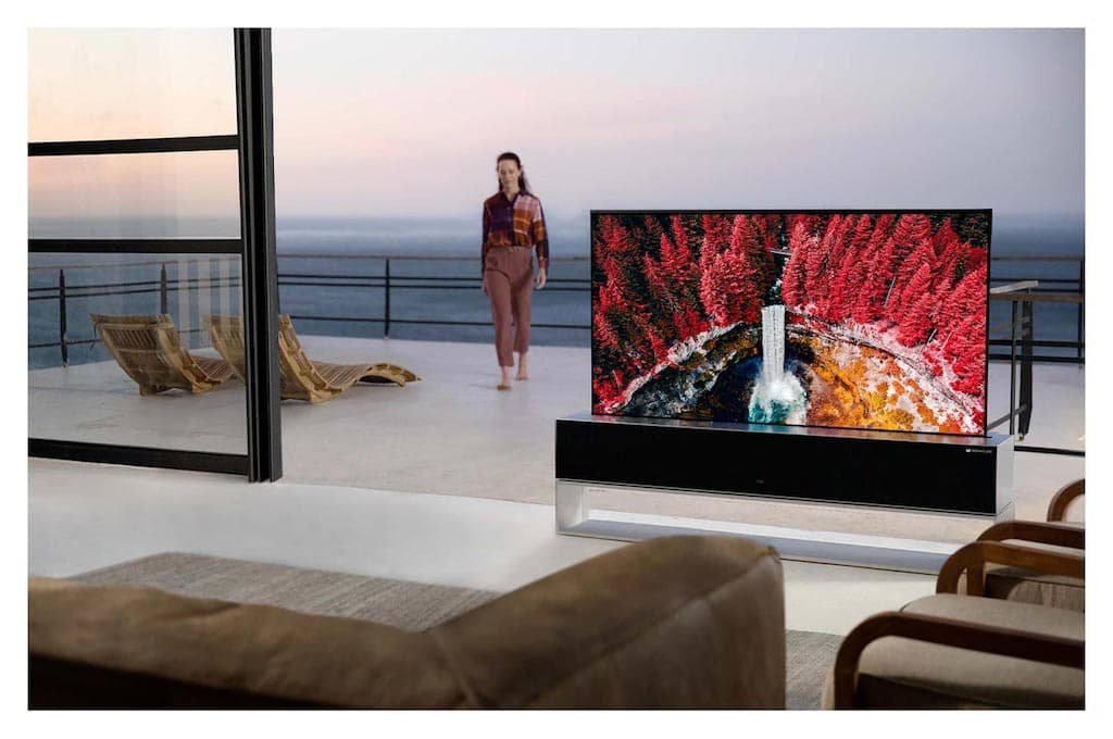 Aufrollbarer LG OLED TV RX FernseherAufrollbarer LG OLED TV RX Fernseher